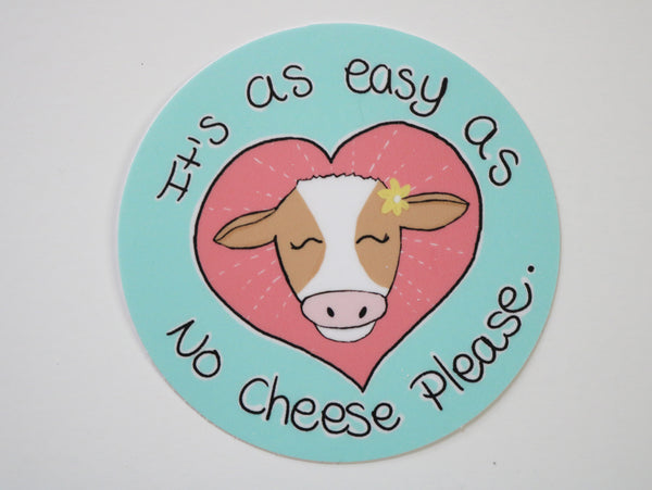 anti dairy vegan sticker no cheese
