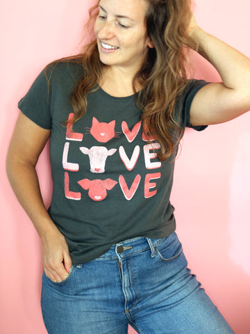 organic vegan tshirt threads for love