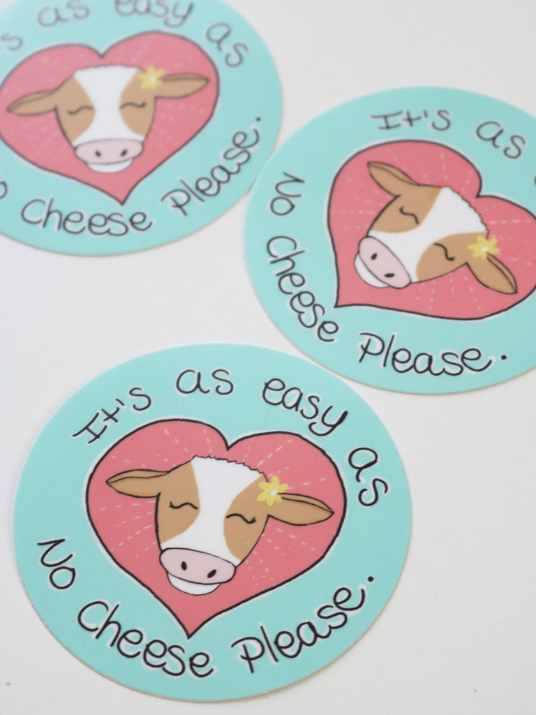 anti dairy vegan sticker