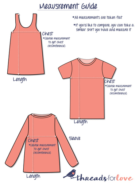threads for love upcycled clothing measurement guide