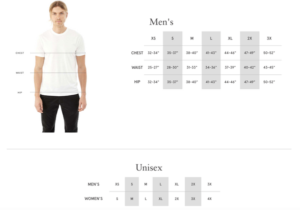 vegan organic cotton shirt measurements