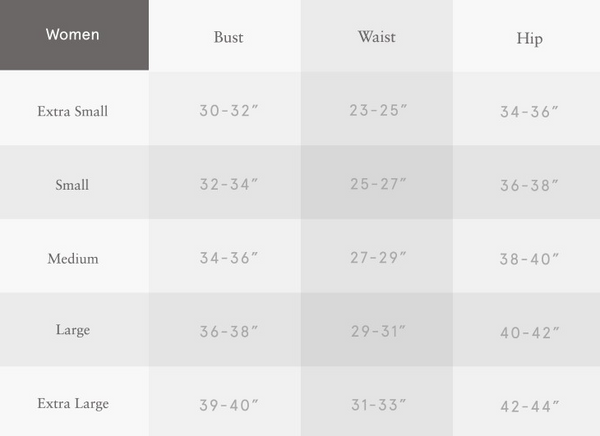 vegan women's eco-friendly  pullover size chart