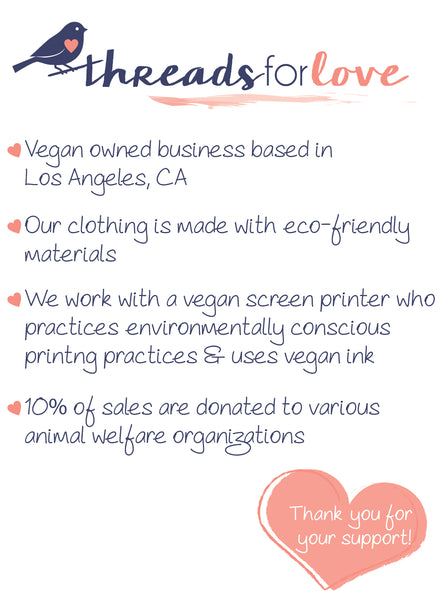 threads for love vegan tote bag and clothing