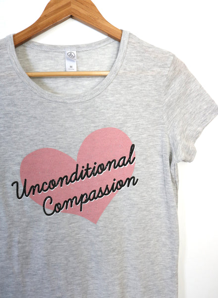 unconditional compassion vegan shirt