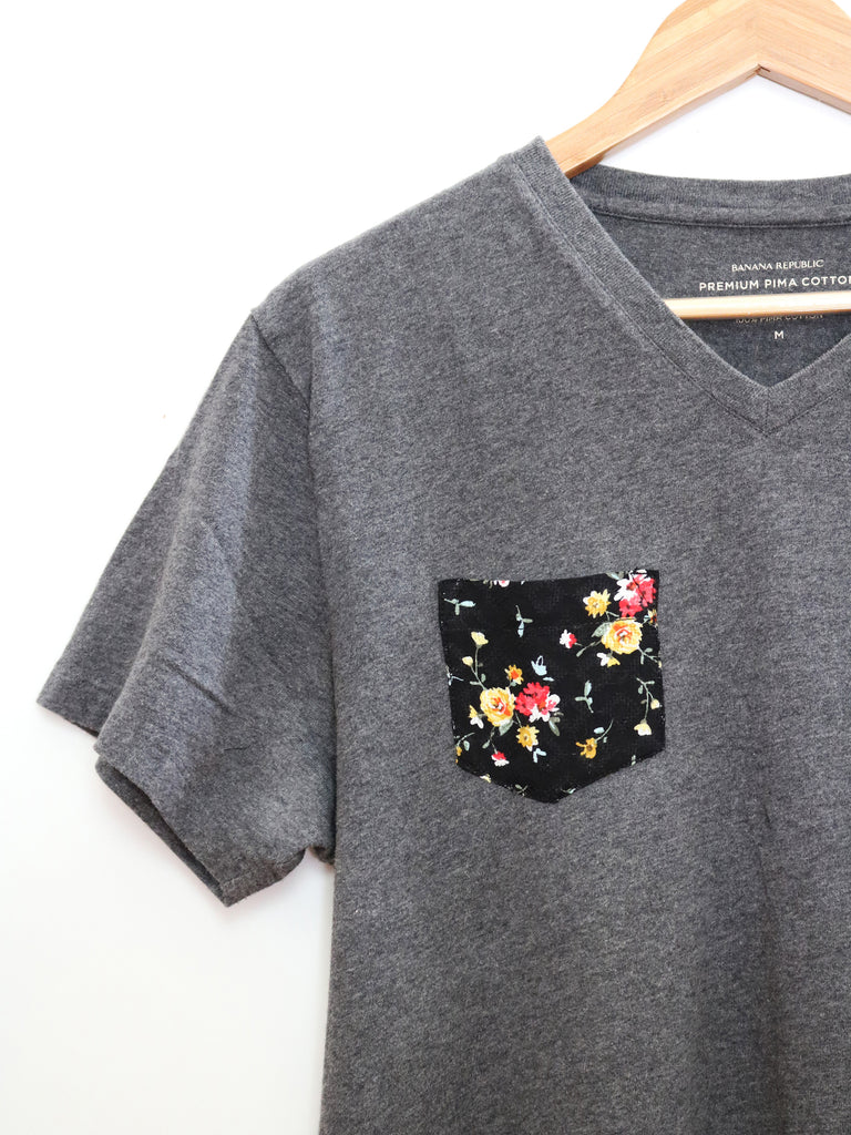 women's upcycled pocket tee