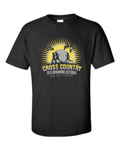 XC Sectional Black Cotton Adult T-Shirt 2000