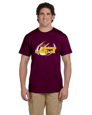 MHS Football G200 Gildan Adult Ultra Cotton® 6 oz Maroon. T-Shirt