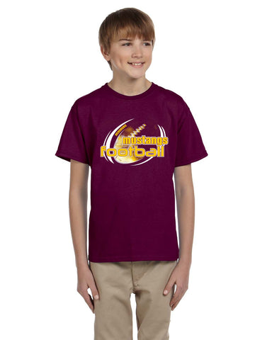 MHS Football G200B Gildan Youth Ultra Cotton® 6 oz Maroon. T-Shirt