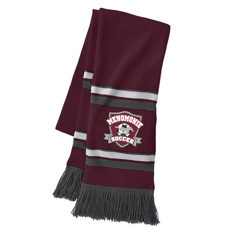 223836 Maroon/White/Grey Scarf