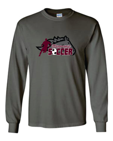 MHS Soccer Gildan Youth - Ultra Cotton Long Sleeve T-Shirt - 2400B