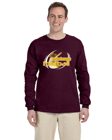 MHS Football G240 Gildan Adult Ultra Cotton® 6 oz. Long-Sleeve Maroon T-Shirt