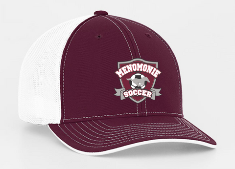 404M Maroon/White FlexFit Hat