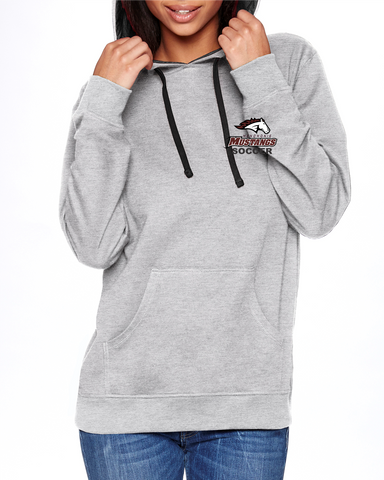 MHS Soccer Heather Grey/Black 9301 Next Level Unisex French Terry Pullover Hoody