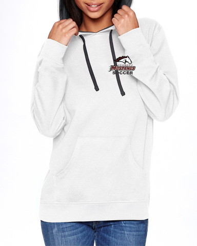 MHS Soccer White/Heather 9301 Next Level Unisex French Terry Pullover Hoody