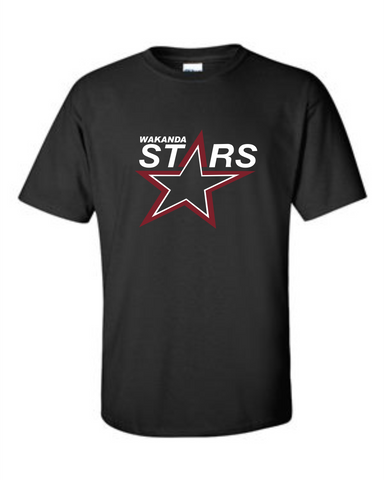 Wakanda Stars Gildan Short Sleeve Black Youth T-Shirt