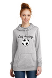MHS Soccer Heather Grey DM493  District Made® Ladies Lightweight Fleece Hoodie