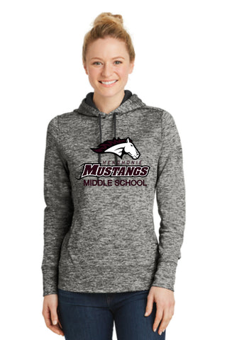 MMS LST225 Ladies Sport-Tek® PosiCharge® Electric Heather Fleece Hooded Pullover