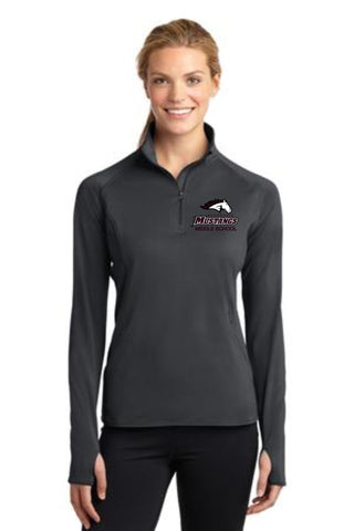 MMS Sport-Tek® Ladies Sport-Wick® Stretch 1/2-Zip Pullover. LST850.