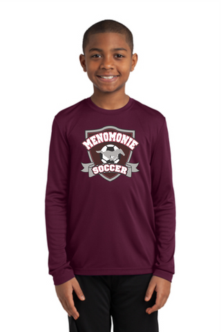 YST350LS Youth Long Sleeve Dri Fit