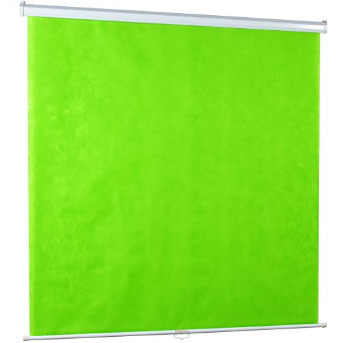 "PS-M-100G<br><br>100"" Manual Green Screen"