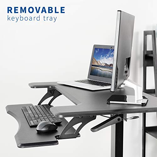 "DESK-V111GT<br><br>Black 36"" Pneumatic Mobile Compact Desk"