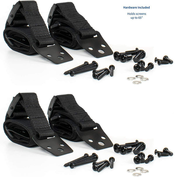 STAND-SK02P  <br><br>Anti-tip Dual Cable Safety Strap Kit (2-Pack)