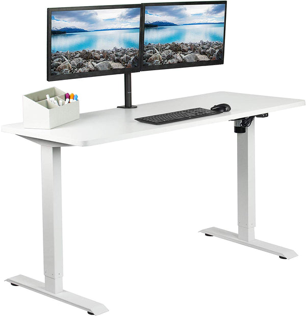 "DESK-KIT-W06W<br><br>White 60"" x 24"" Electric Desk"