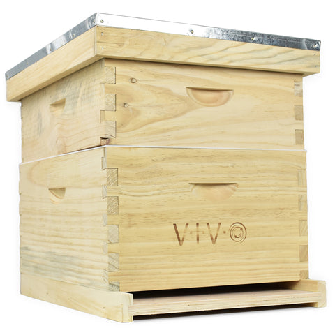 BEE-HV01 <br><br><span style=font-weight:normal;>Complete Beekeeping 20 Frame Beehive Box Kit (10 medium 10 Deep) Langstroth Bee Hive from VIVO</span>