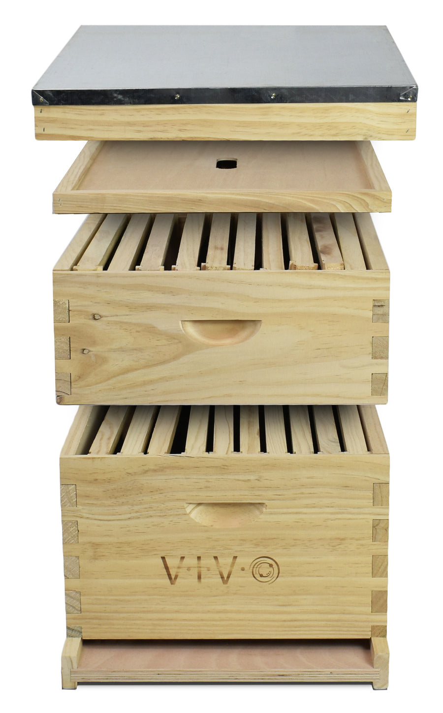 inside of 20 frame bee hive box kit by VIVO