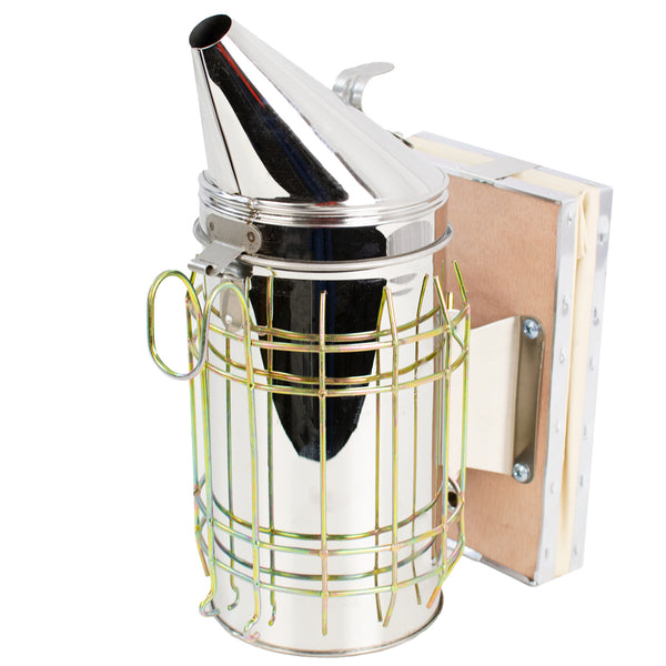 BEE-V001L <br><br>Large Stainless Steel Beehive Smoker with Heat Shield