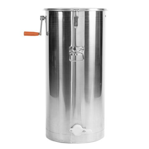 BEE-V002C<br><br><span style=font-weight:normal;>New Two 2 Frame Stainless Steel Bee Manual Crank Honey Extractor SS Honeycomb Spinner Drum</span>