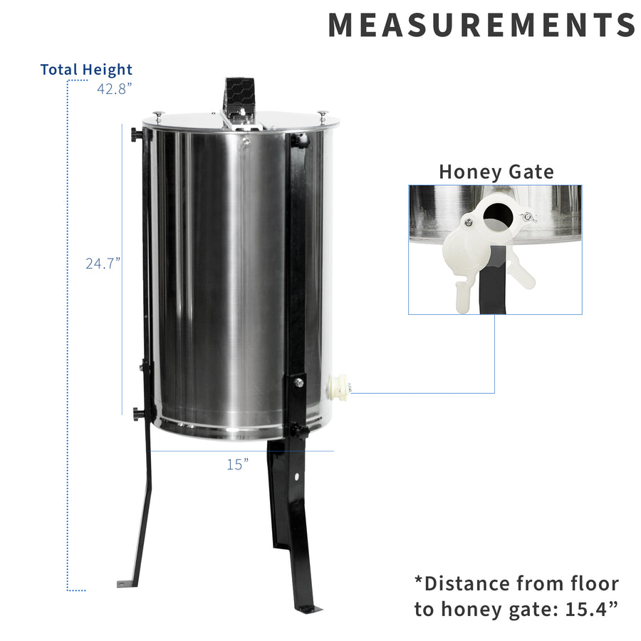 BEE-V003D <br><br>Three Frame Stainless Steel Honey Extractor