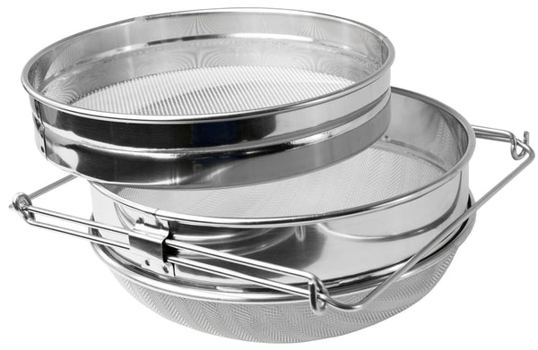 Double Sieve Stainless Steel Honey Strainer