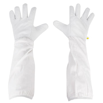 BEE-V103L <br><br>Large Leather Beekeeping Gloves