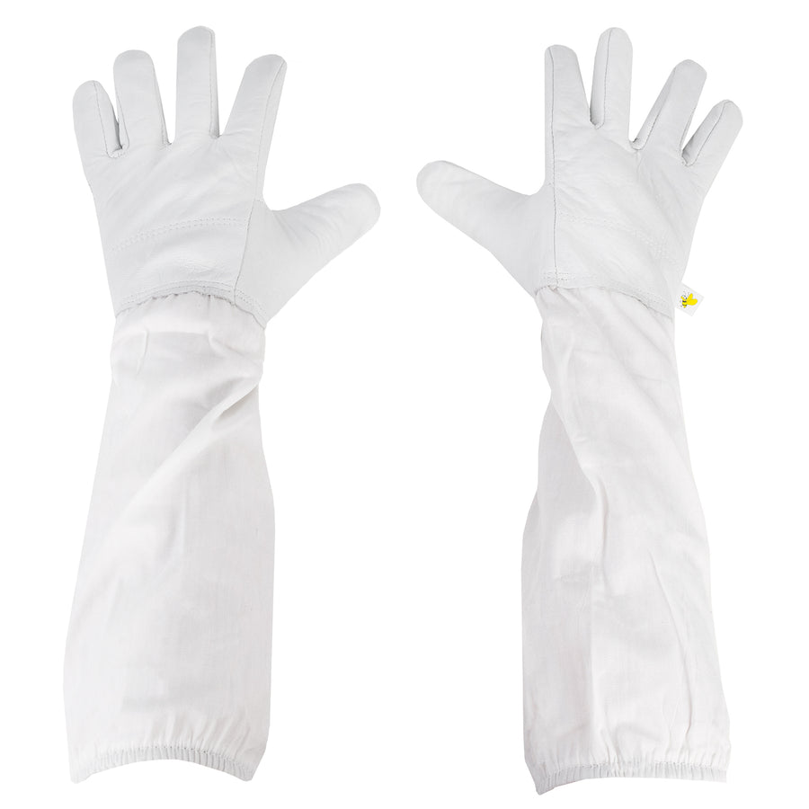 BEE-V103M  <br><br>Medium Leather Beekeeping Gloves
