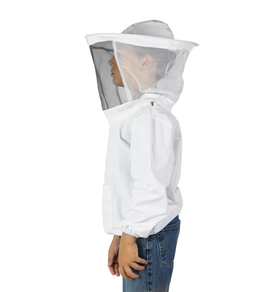 BEE-V105YL <br><br>White Beekeeping Youth Large Sized Bee Keeping Suit