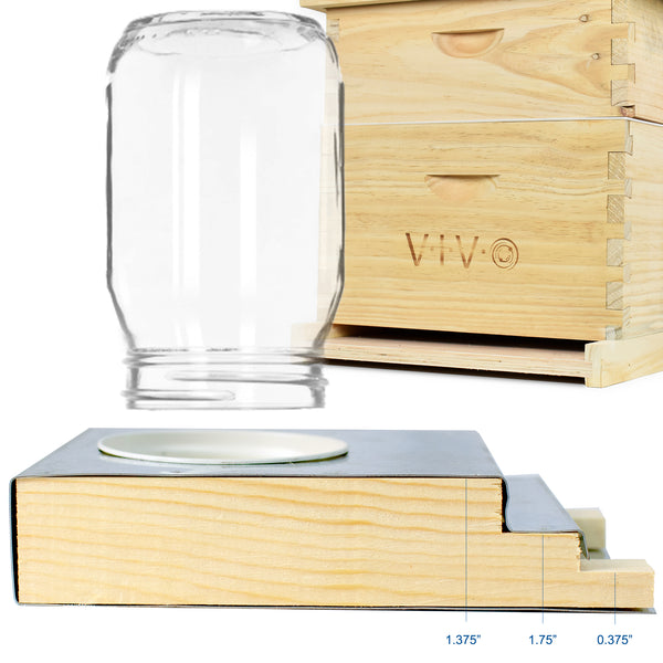 BEE-V110<br><br><span style=font-weight:normal;>VIVO Beekeeping Light Wood Boardman Entrance Feeder for Bee Hives  </span>