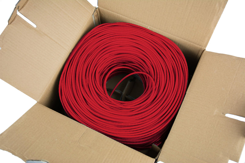 Red 1,000ft Cat5e Ethernet Cable