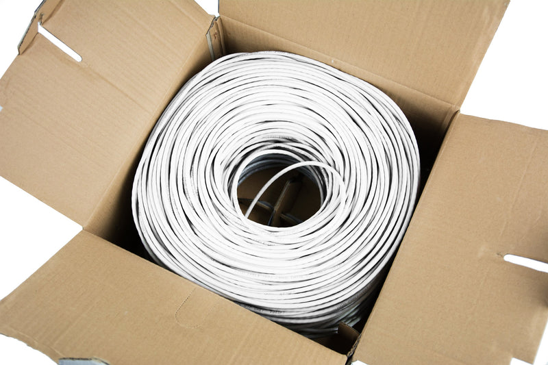 White 500ft Cat5e Ethernet Cable