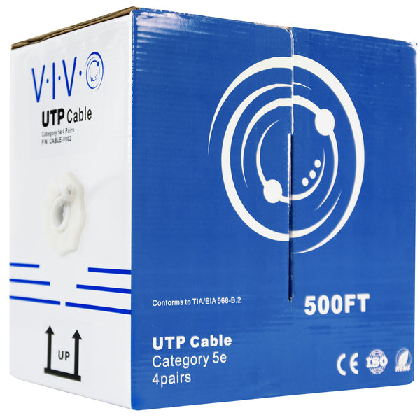 Grey 500ft Cat5e Ethernet Cable