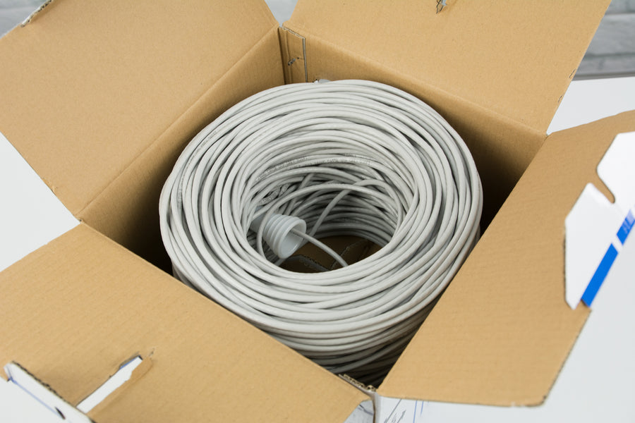 CABLE-V002 <br><br>Grey 500ft Cat5e Ethernet Cable