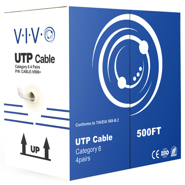 CABLE-V006 <br><br>Grey 500ft Cat6 Ethernet Cable