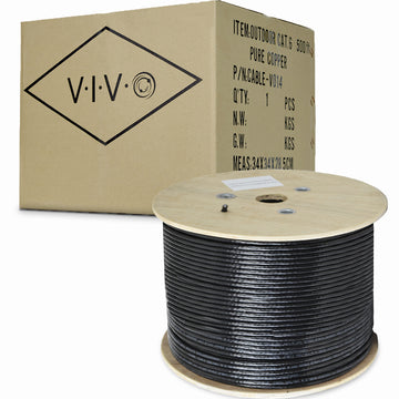 CABLE-V014 <br><br>Black Full Copper 500 ft Cat6 Ethernet Cable 23 AWG