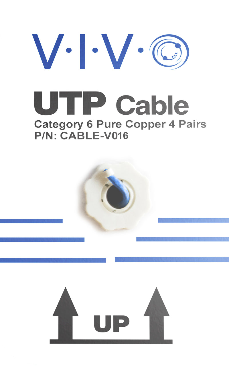CABLE-V016 <br><br>Blue 250ft Cat6 Full Copper Indoor Ethernet Cable