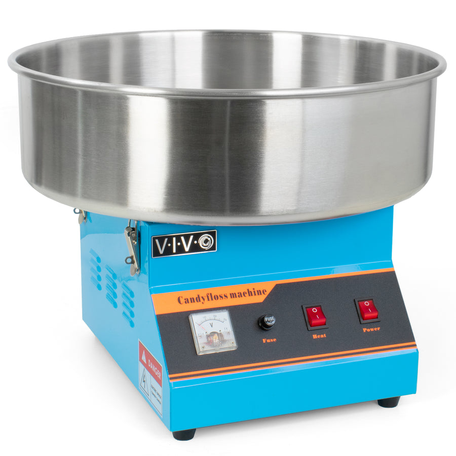 CANDY-V001B <br><br>Blue Electric Commercial Cotton Candy Machine