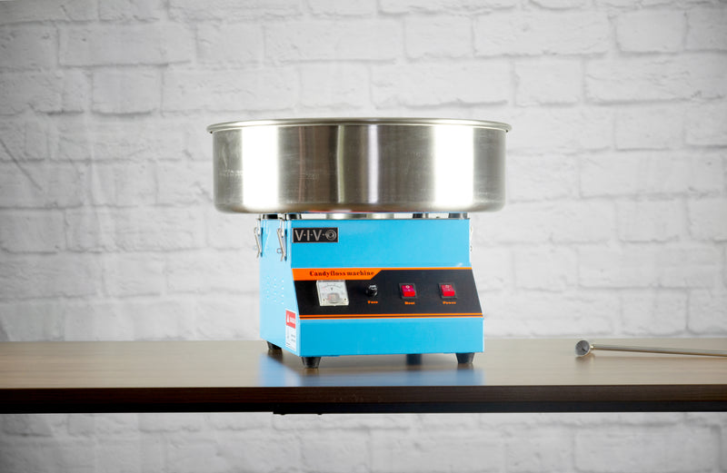 Blue Electric Commercial Cotton Candy Machine