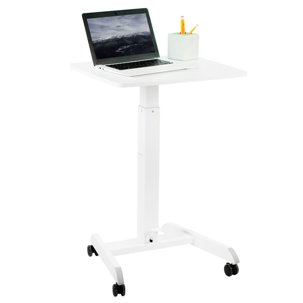 "White 24"" Pneumatic Mobile Workstation"