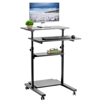 "CART-V02DB <br><br>Black 28"" Mobile Computer Workstation"
