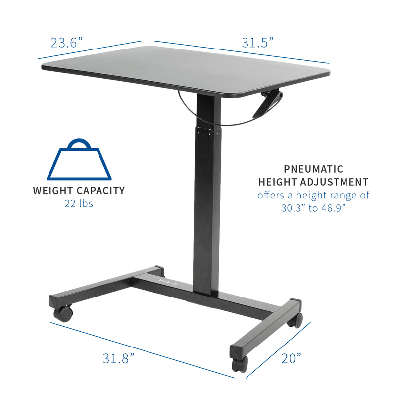 "Black 32"" Mobile Presentation Cart"