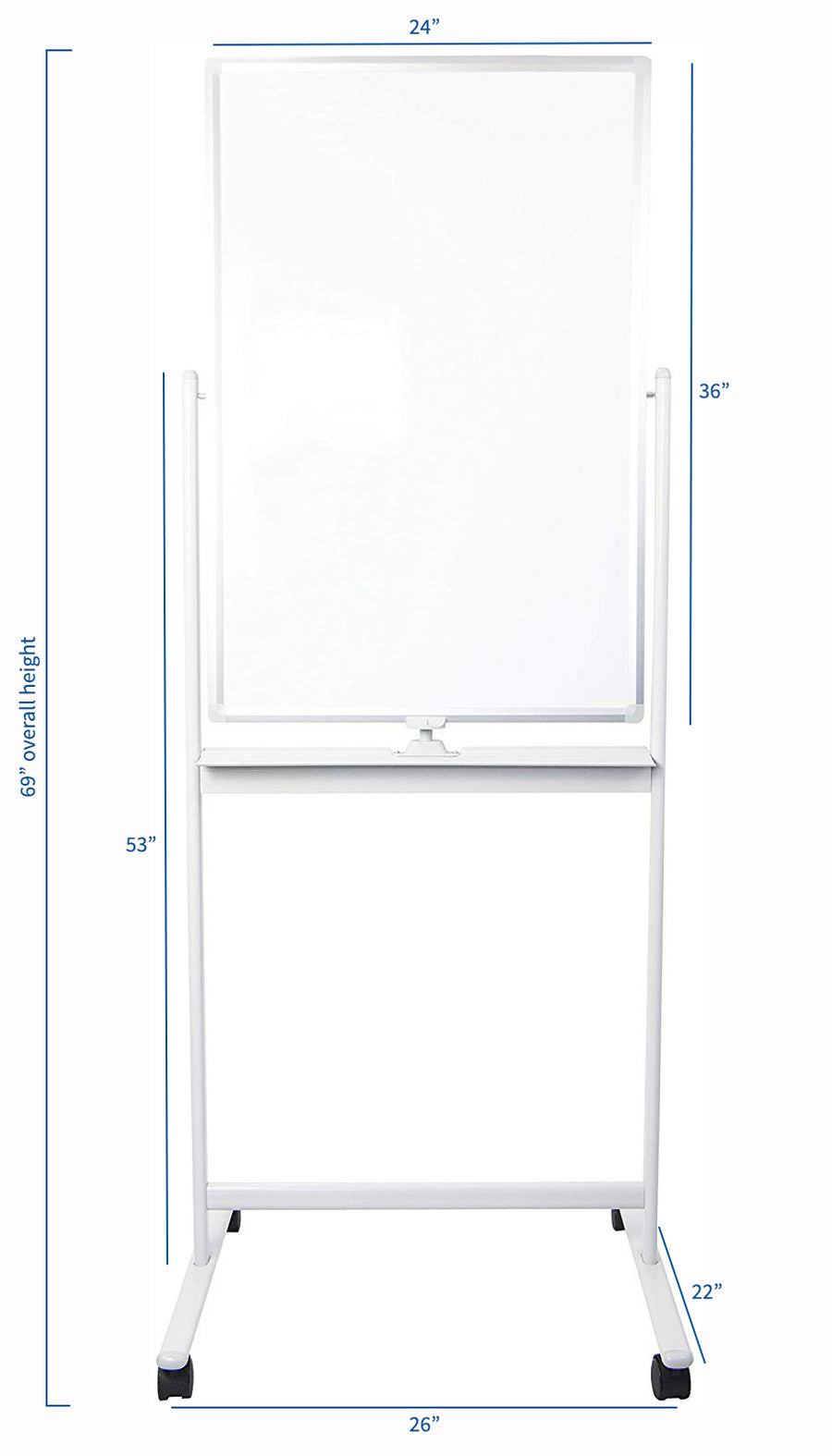 "CART-WB24A <br><br>24"" x 36"" Mobile Double Sided Dry Erase Board"